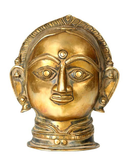 A Traditional Depiction Of Shakti - Brass Head