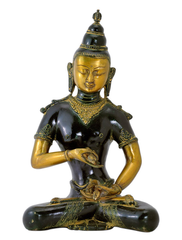 Avaloketeshwara Fine Brass Sculpture