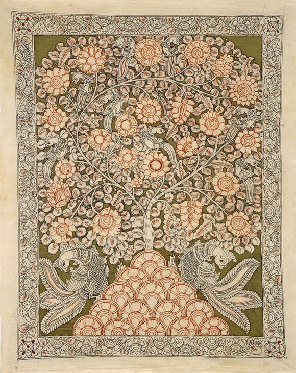 Cotton Kalamkari Painting of Tree 4798