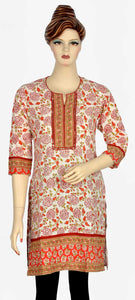 Red and White Beautiful Kurti