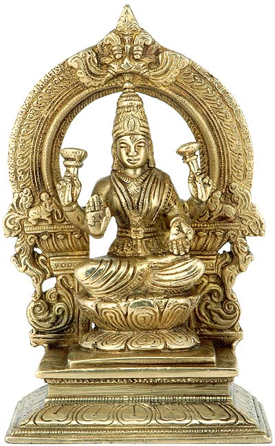 Mata Lakshmi Goddess of Prosperity Mahalkshmi Sculpture 3281