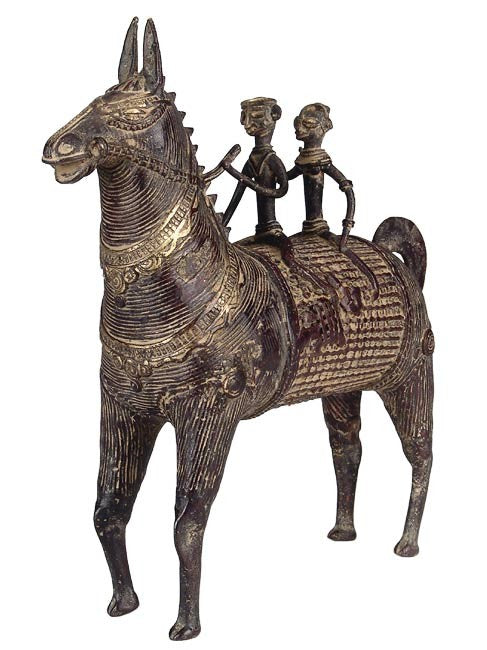 Tribal Horse Riders - Dhokra Sculpture