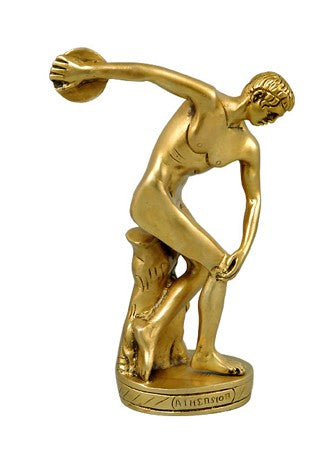 Brass Statuette - The Discus Thrower