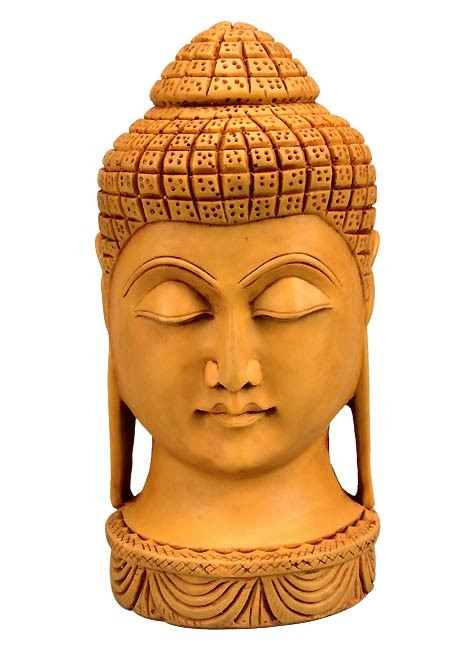Budhha Head in Synthetic Resin
