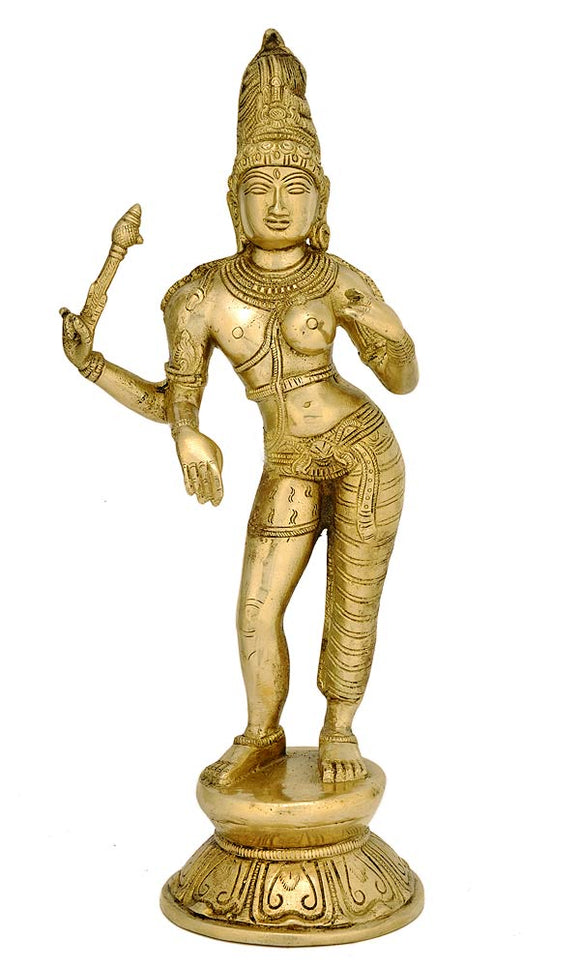 Ardhanarishvara Statue Composed of Shiva & His Consort Shakti 4429