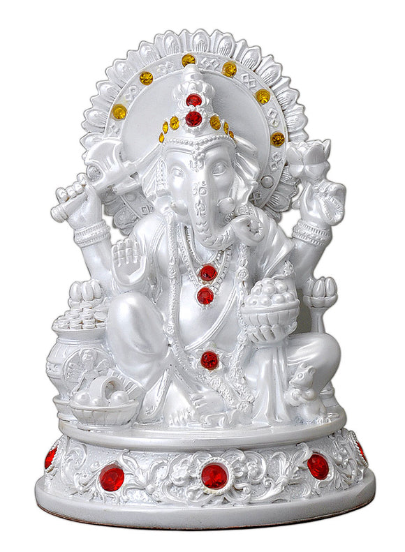 Hindu Lord Ganesha Polyresin Decorative Showpiece