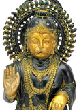 Antiquated God Hanuman Brass Statue