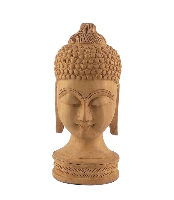 God Buddha Handcarved Wooden Figurine