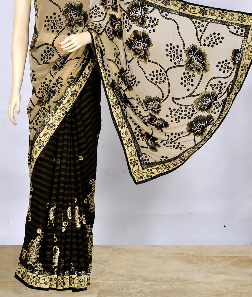 Classy Saree with Beautiful Floral Work