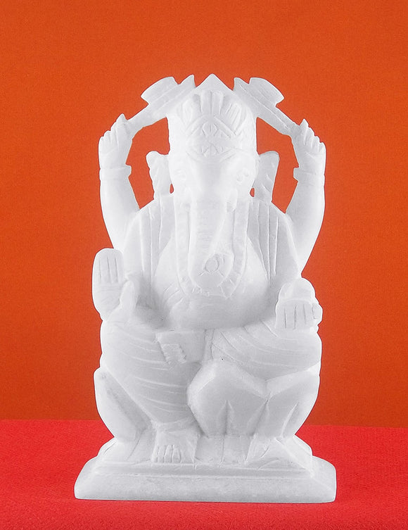 Blessing Religious Lord Ganesha Soft Stone Statue