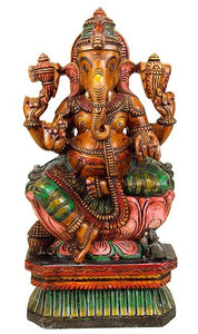 Lord Vinayaka - Wood Sculpture