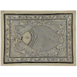 Amazing Gaint Fish - Madhubani Tattoo Art Painting