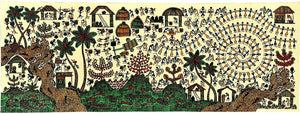 Life in Village-Warli Painting