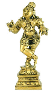 Dance of Lord Krishna - Brass Statue 3368