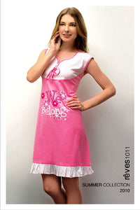 Red Rose Cotton Nightwear Reves - 1011