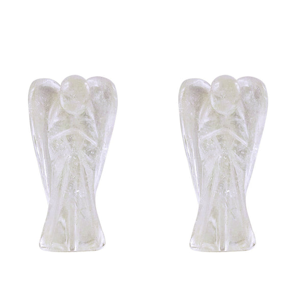 Angels Quartz Crystal Carvings - Set of 2