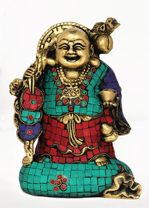 Brass Chinese Laughing Buddha