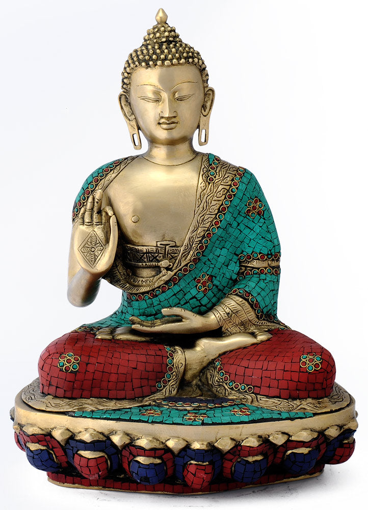 Lord Buddha Beautifully Carved Brass Statue 4811