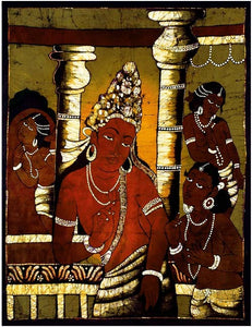 Thoughtful Siddhartha - Ajanta Art Style Batik Painting