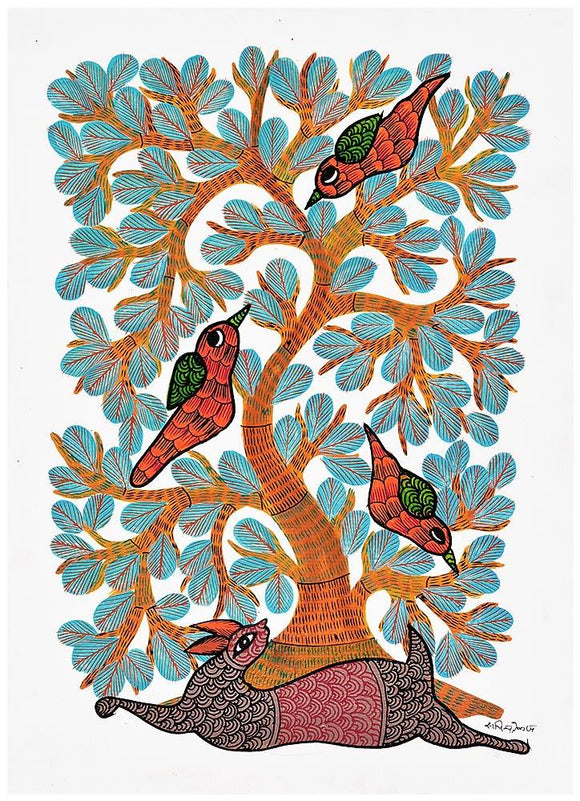 Tree of Life - Gond Painting