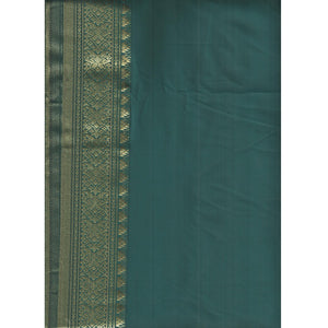 Brandeis Rama Green  Silk Saree