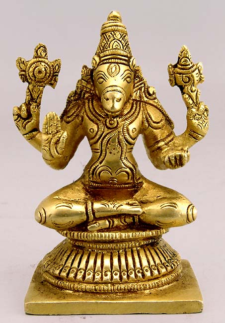 Lord Varaha Dev Brass Statue 02073