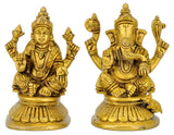 Beautiflly Carved Laxmi Ganesha Pair