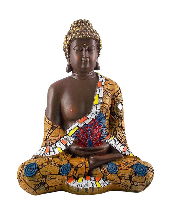 Buddha Meditation Pose Fiber Statue Showpiece