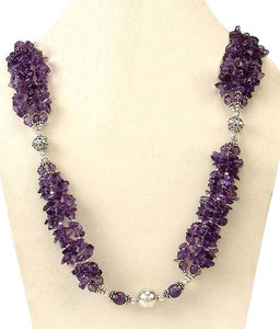 Amethyst Necklace 'Garland'