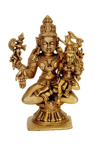 Lord Shiva with Parvati Brass Sculpture 1340