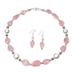 Bright & Rosy - Rose Quartz Stone Necklace