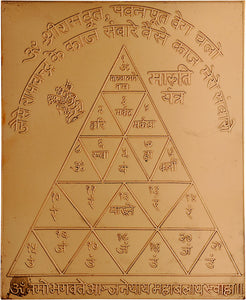 Lord Hanuman Protection Yantra in Copper