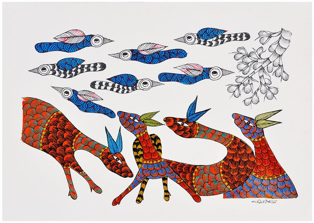 Celebration of Life - Gond Painting