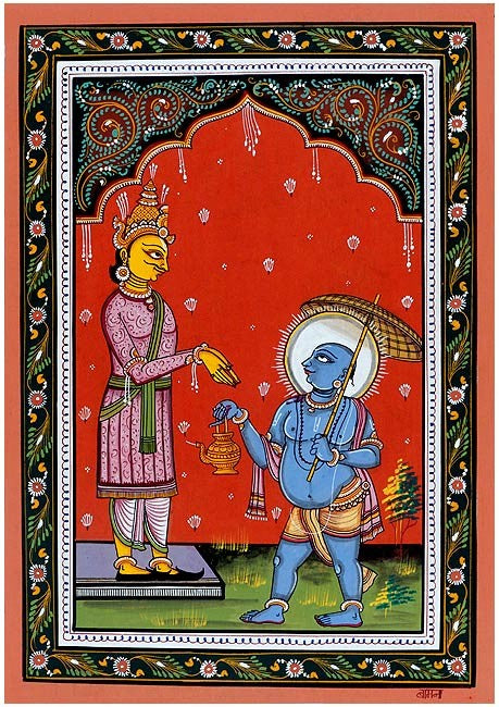'Lord Vamana' Vishnu Dashavtar Patachitra Painting