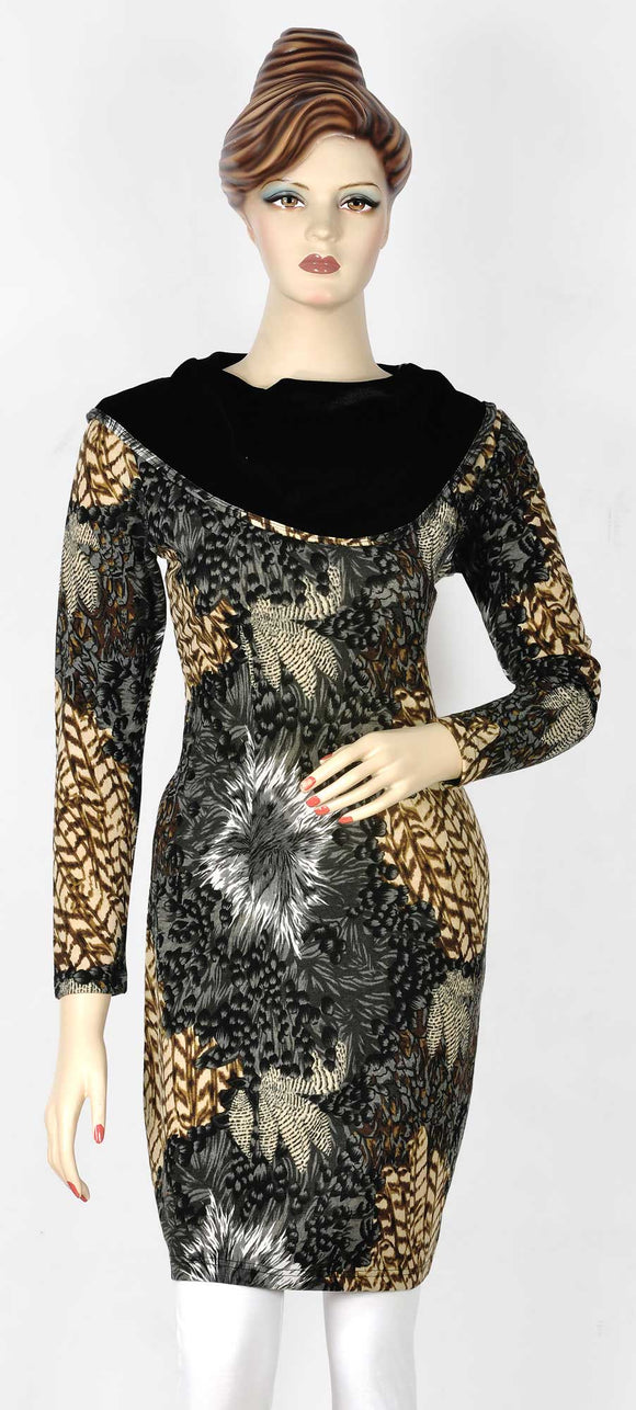 Stylish Black Velvet  Designer Kurti