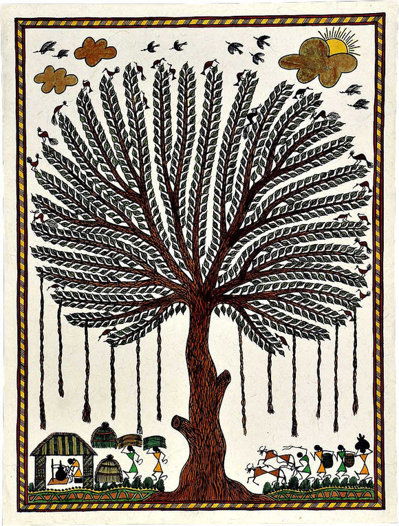 Tree of Life Warli Painting