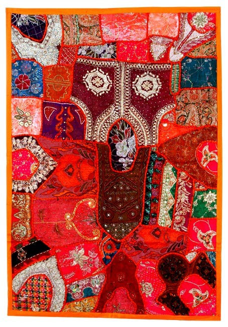Red Passion - Indian Tapestry Wall Hanging