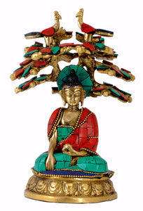 Beautiful Medicine Buddha Seated Under Tree