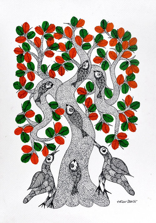 Untitled Work - Gond Panting