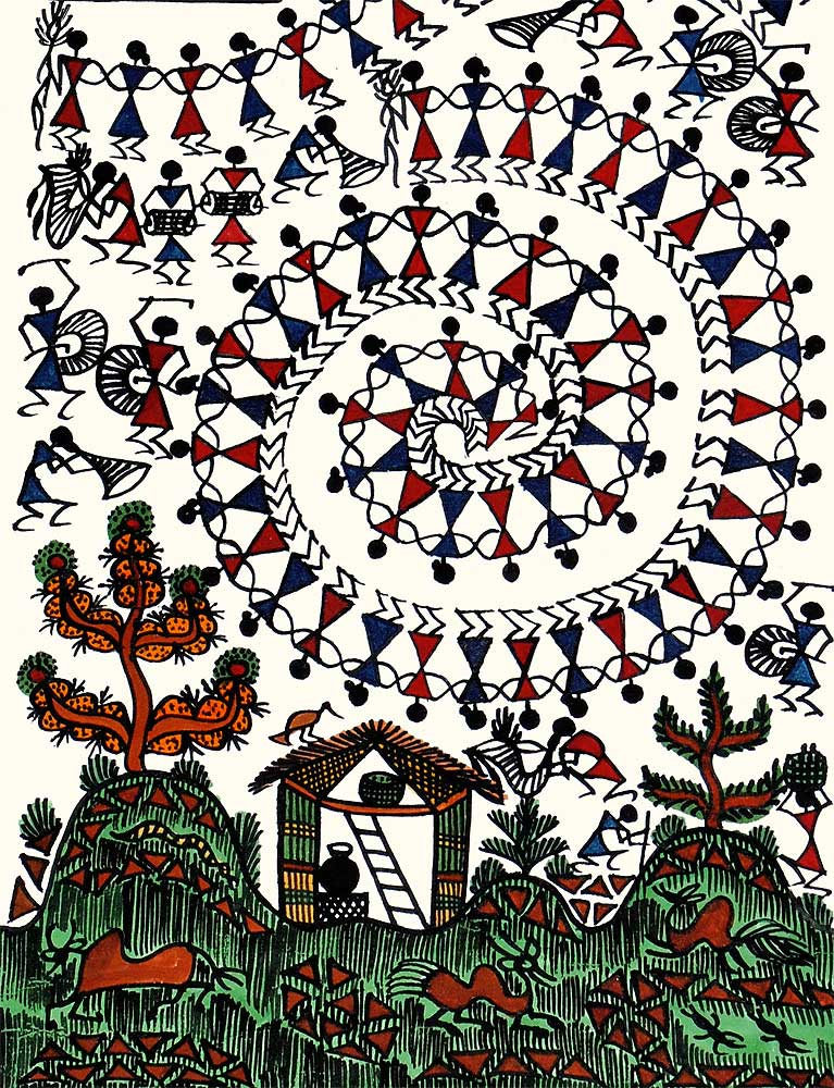 Tribal Regular Life Warli Painting
