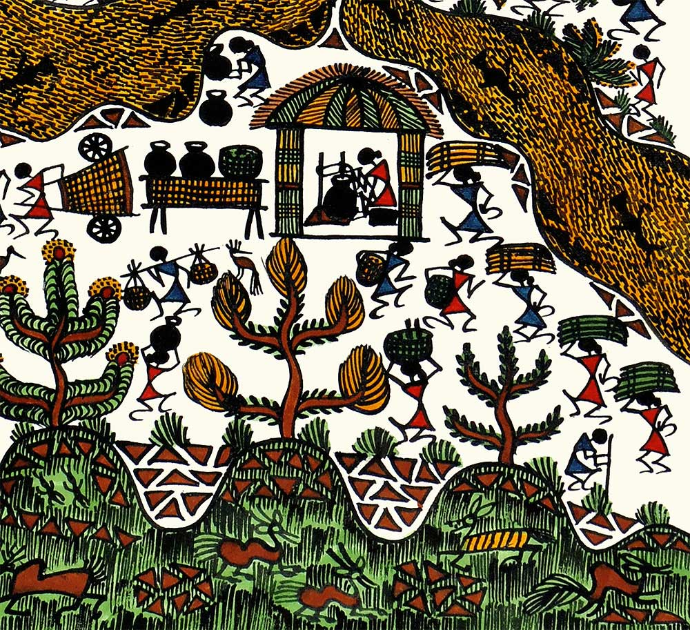 Warli Painting of Celebration