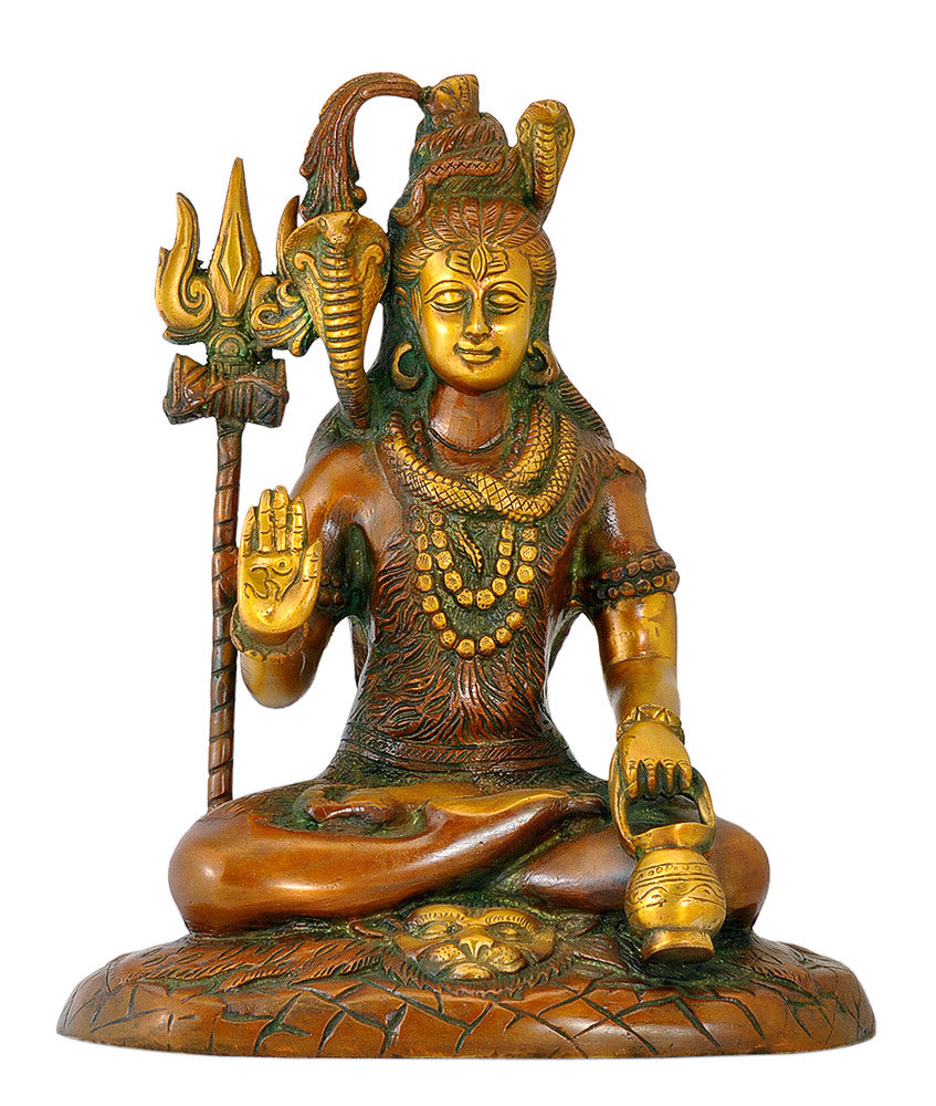 Yogi Raj Lord Shiva - Brass Sculpture