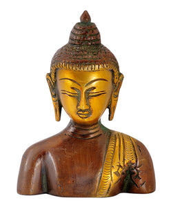 Brass Budha Head Showpiece