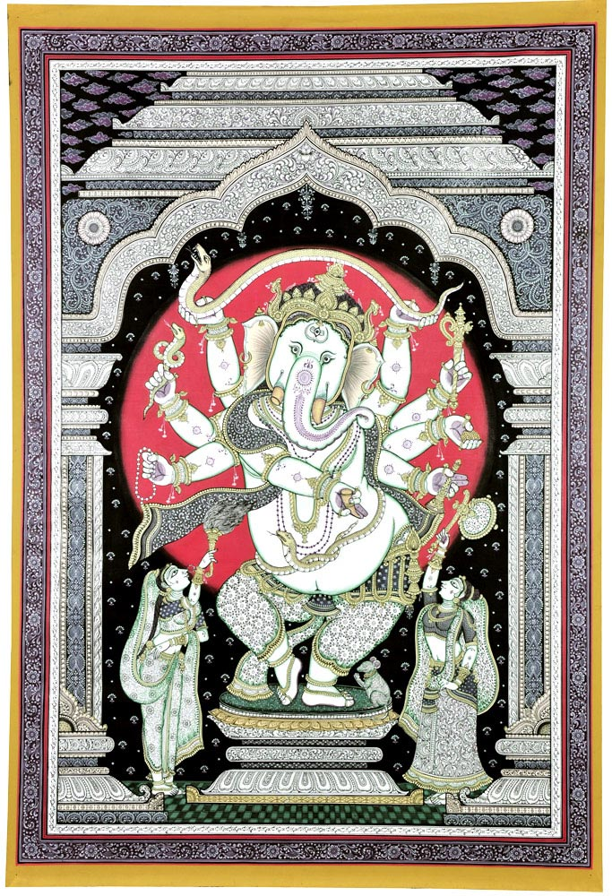 Ganpati Elephant Headed God Patachitra Painting
