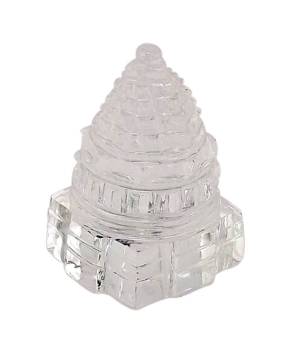 Shri Yantra - Carved in Quartz Crystal