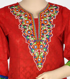 Beautiful Red Embroidered Kurti