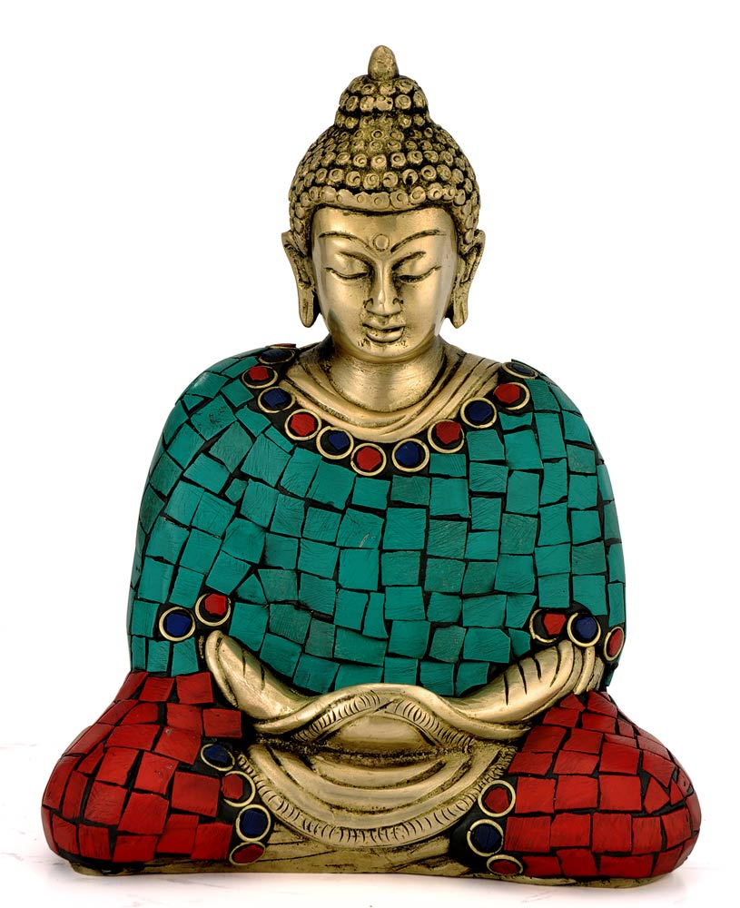 Collectibles Exquisite Brass Meditating Gautama Buddha Statue 4373
