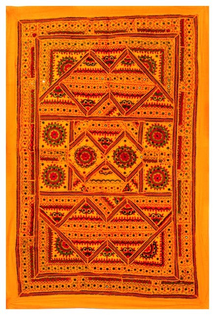 Gracious Yellow - Cotton Wall Hanging