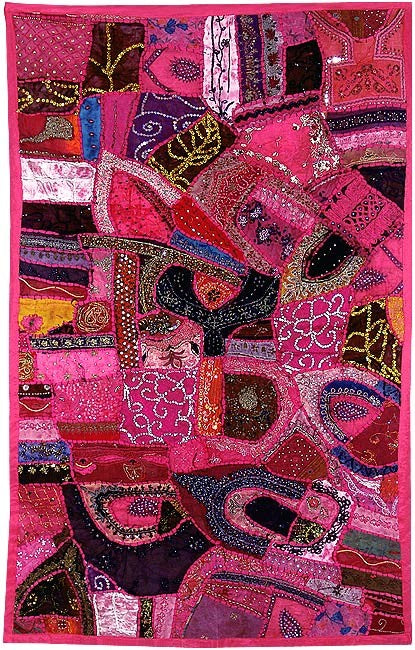 Jaipur Pink - Embroidered Wall Hanging