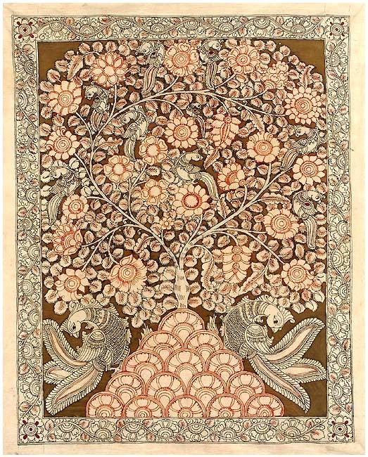 Tree of Joy - Kalamkari Painting